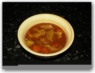 bowl of Robin Khoury's weight loss soup
